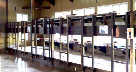 ずらりと並ぶ2段ベッド
